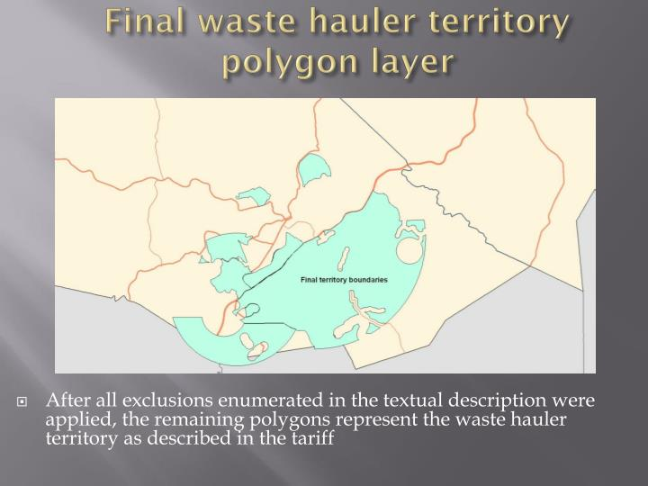 Final waste hauler territory polygon layer