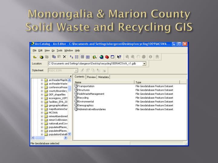 Monongalia & Marion County