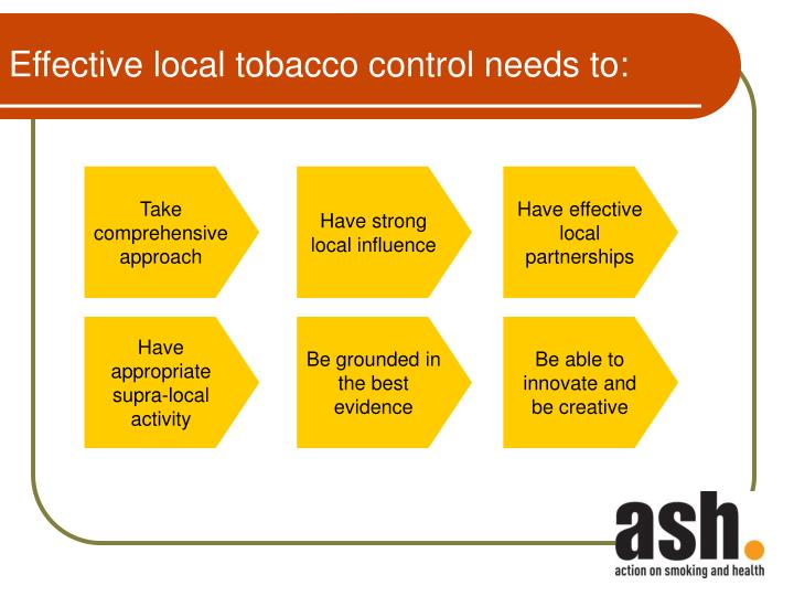 Effective local tobacco control needs to: