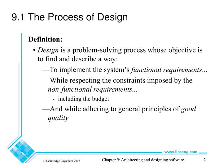 9 1 the process of design