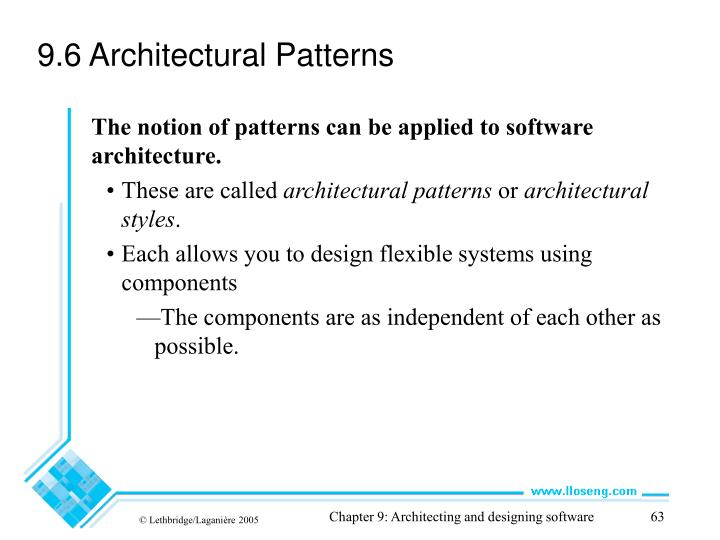 9.6 Architectural Patterns