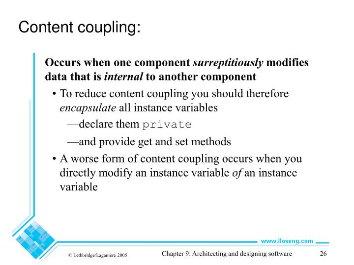 Content coupling: