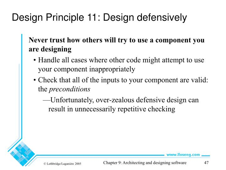 Design Principle 11: Design defensively