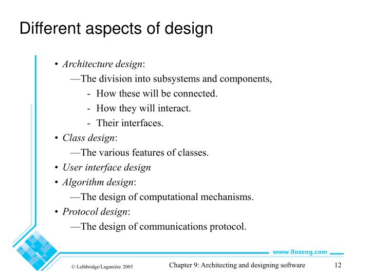 Different aspects of design