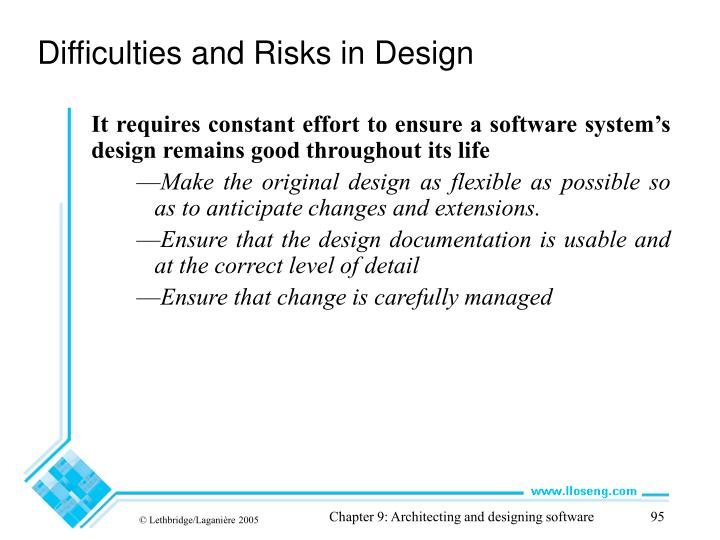 Difficulties and Risks in Design