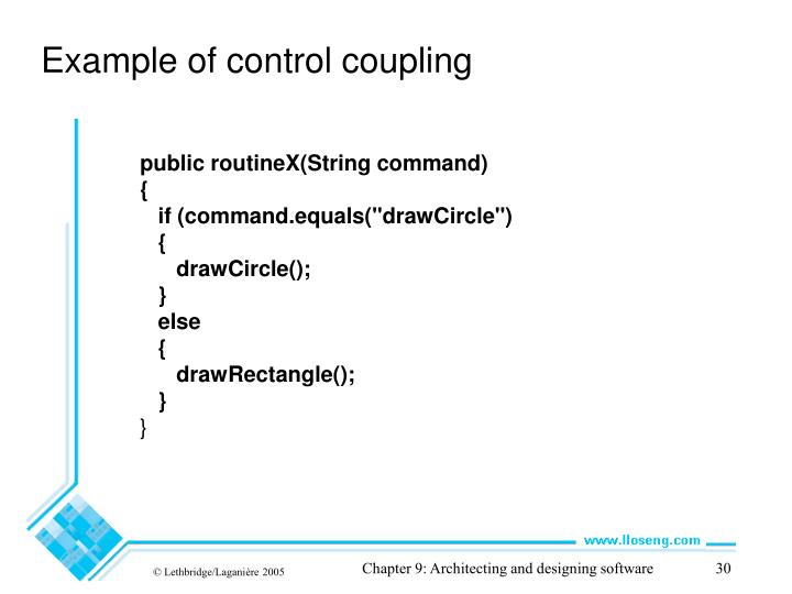 Example of control coupling
