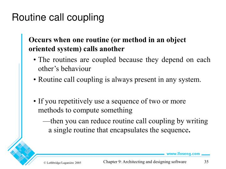 Routine call coupling