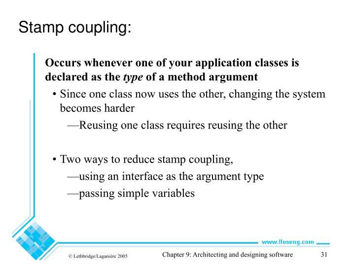 Stamp coupling: