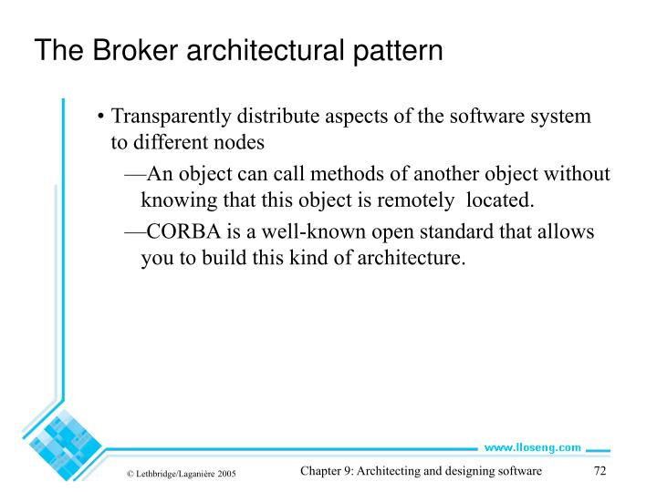 The Broker architectural pattern