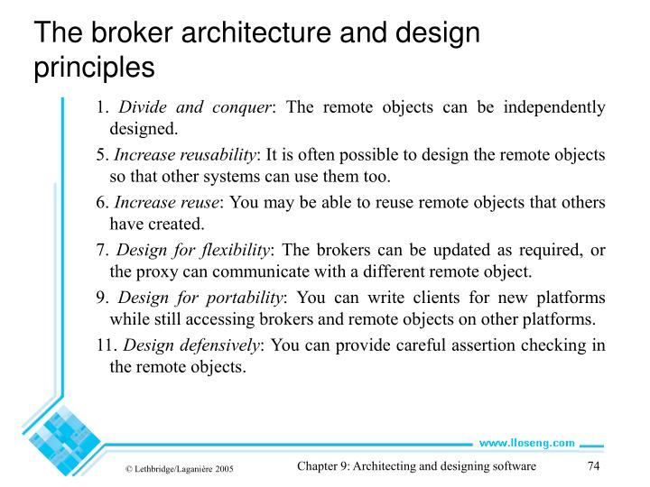 The broker architecture and design principles
