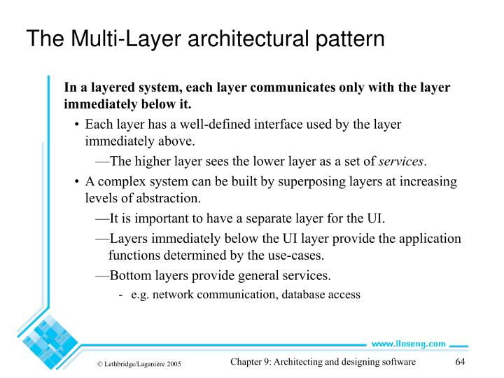 The Multi-Layer architectural pattern