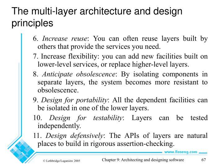 The multi-layer architecture and design principles
