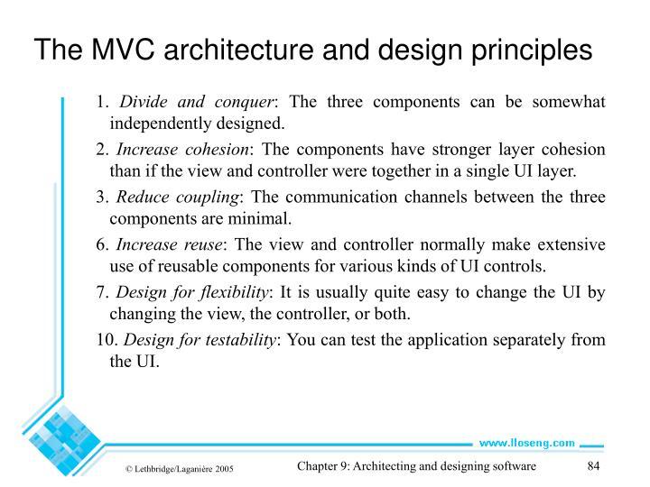 The MVC architecture and design principles
