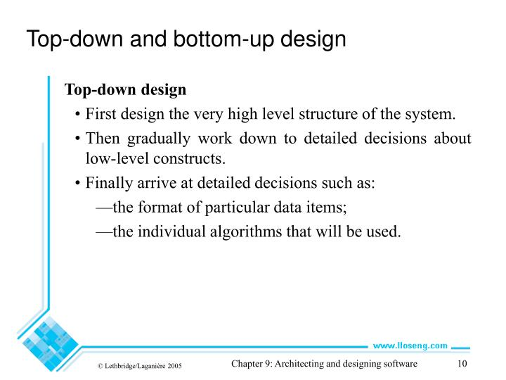 Top-down and bottom-up design