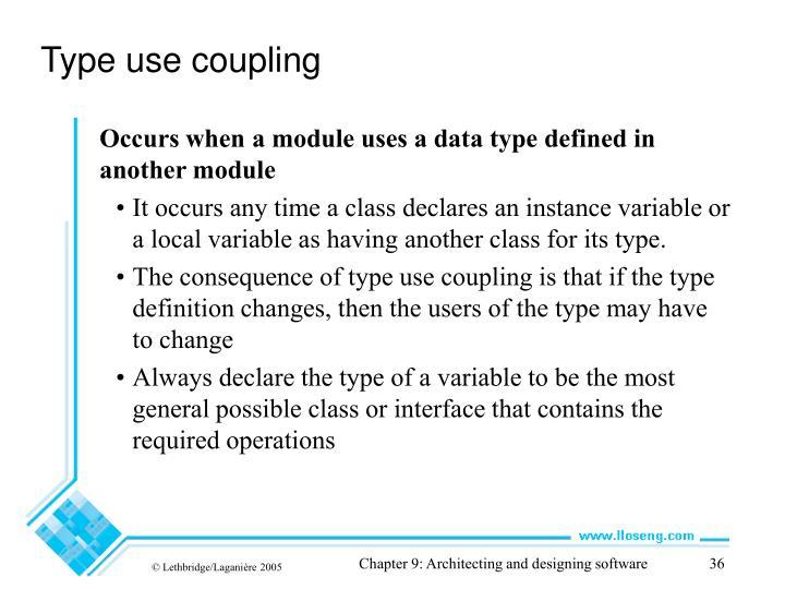 Type use coupling
