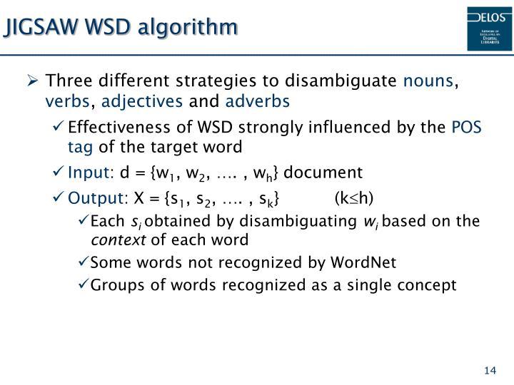 JIGSAW WSD algorithm