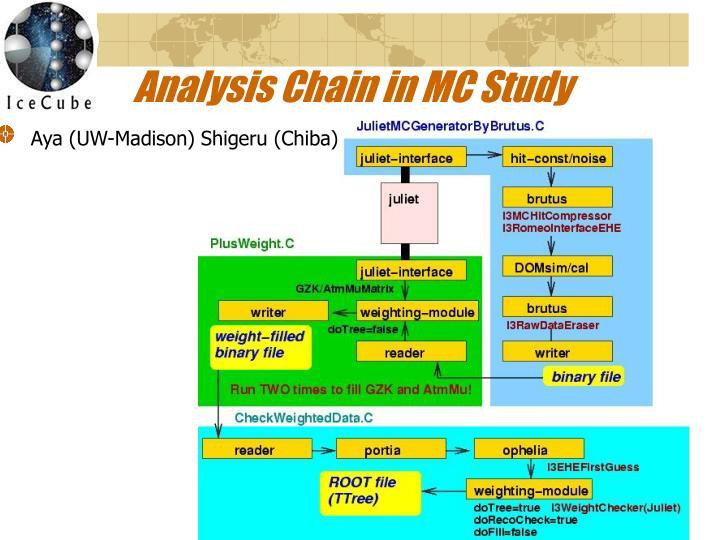 Analysis Chain in MC Study