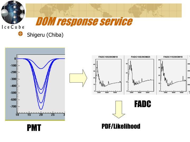 DOM response service