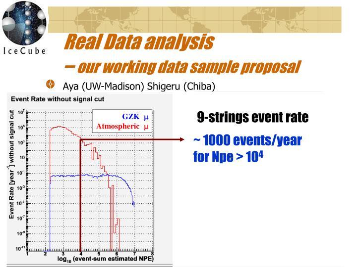 Real Data analysis