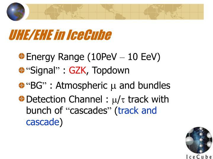 UHE/EHE in IceCube