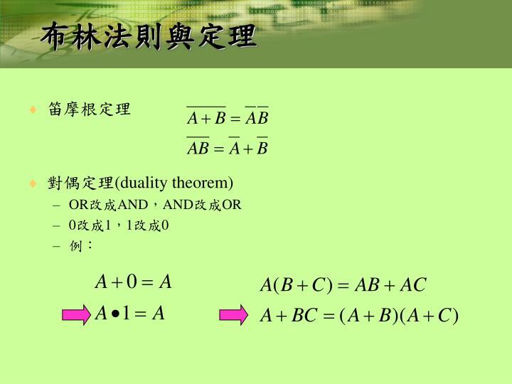 布林法則與定理