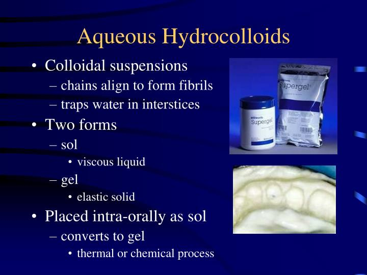 Aqueous Hydrocolloids