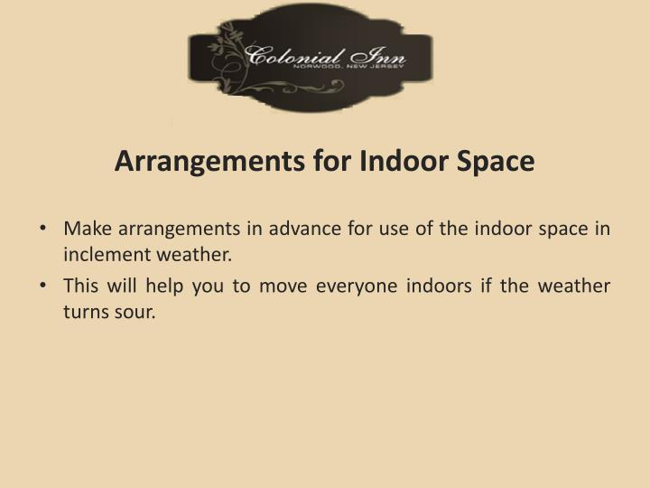 Arrangements for Indoor Space