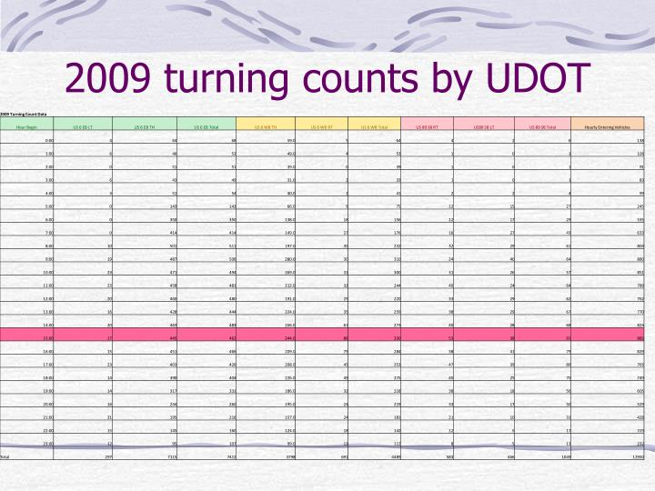 2009 turning counts by UDOT