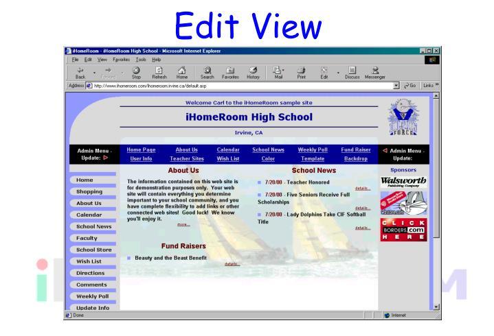 Edit View
