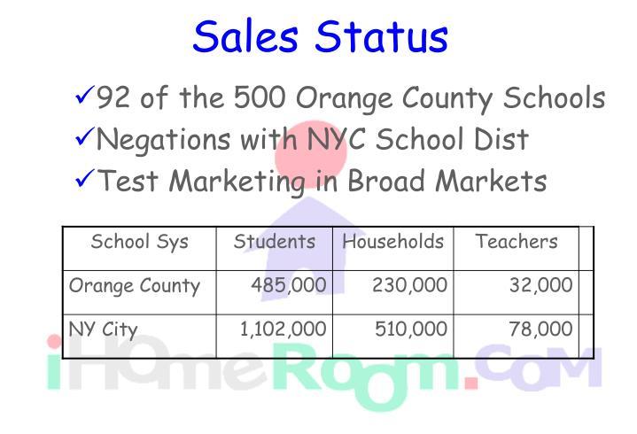 Sales Status