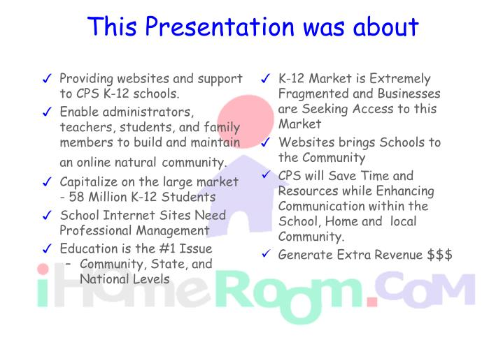 Providing websites and support to CPS K-12 schools.