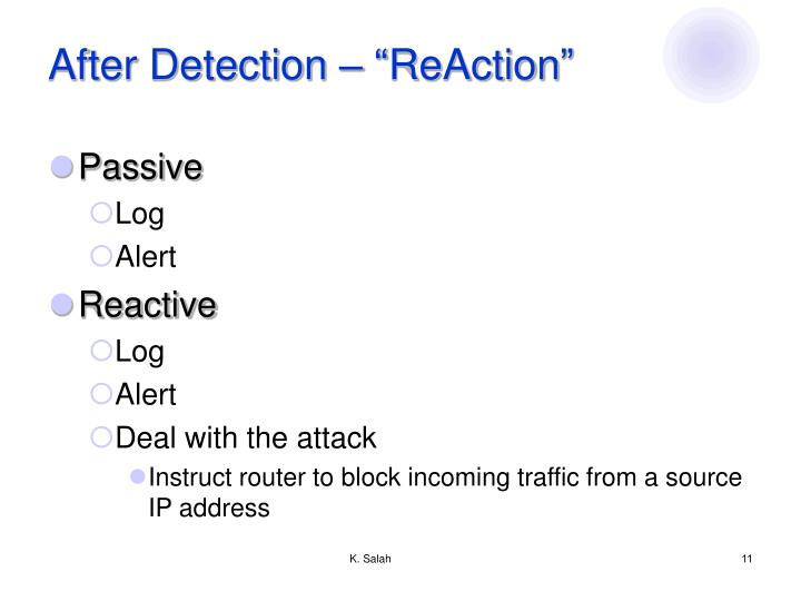 "After Detection – ""ReAction"""