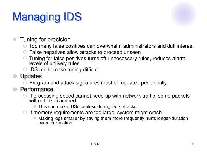 Managing IDS