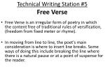 technical writing station 5 free verse