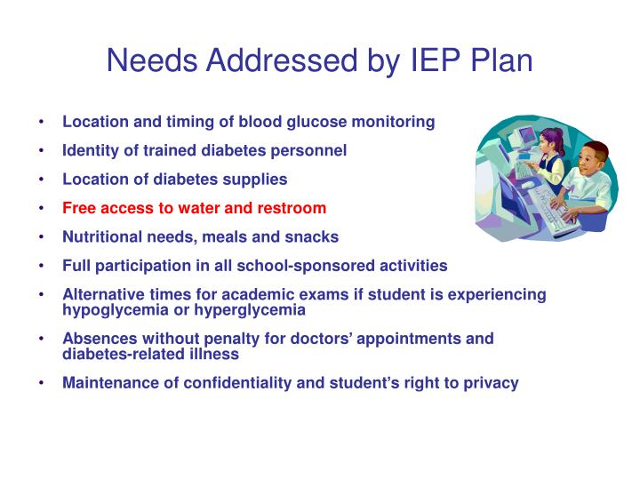 Needs Addressed by IEP Plan