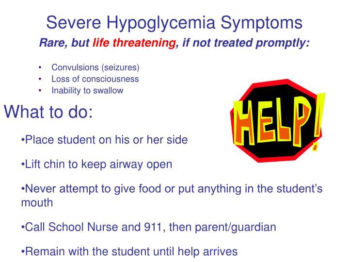 Severe Hypoglycemia Symptoms