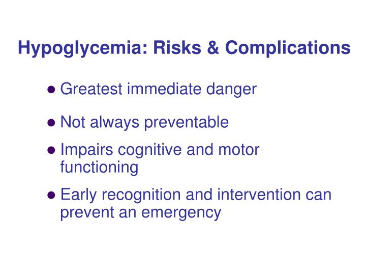 Hypoglycemia: Risks & Complications