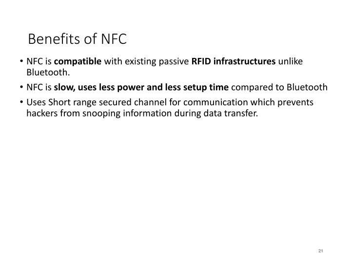Benefits of NFC