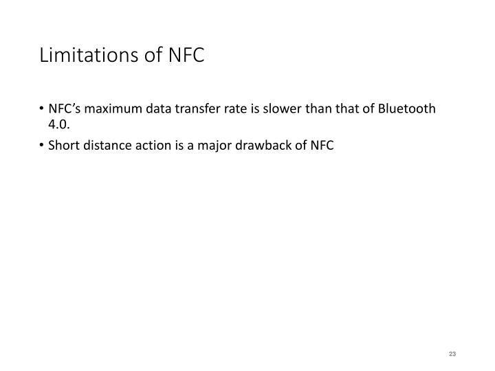 Limitations of NFC