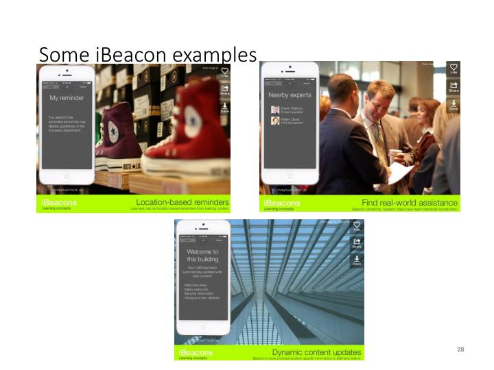 Some iBeacon examples
