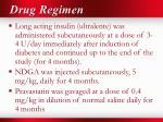 drug regimen