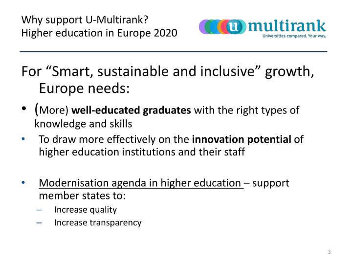 Higher education in europe 2020