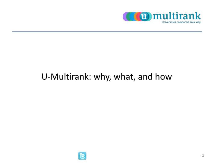 U multirank why what and how