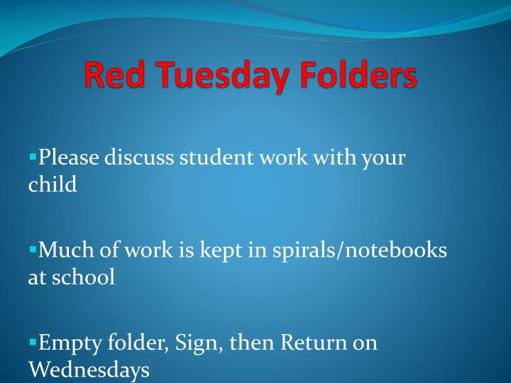 Red Tuesday Folders