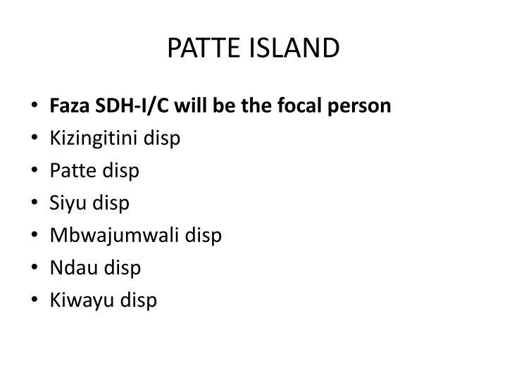 PATTE ISLAND