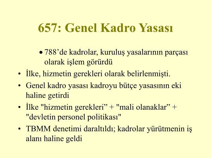 657: Genel Kadro Yasası