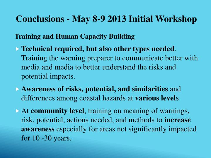 Training and Human Capacity Building