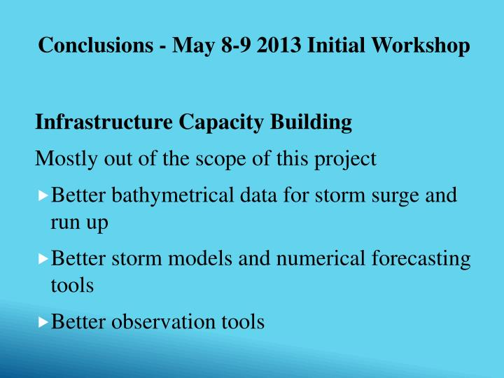 Infrastructure Capacity Building