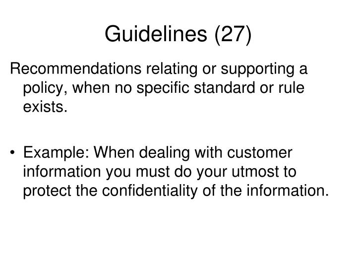 Guidelines (27)