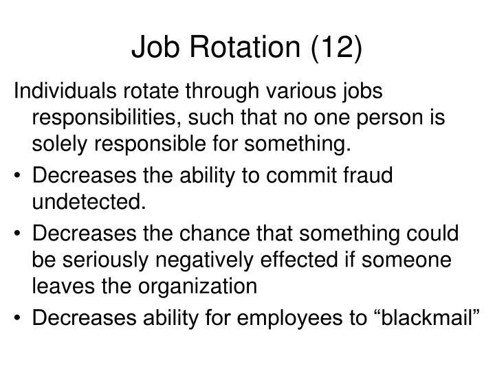 Job Rotation (12)